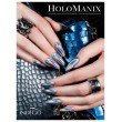 Holo Manix effect Indigo nails Lab