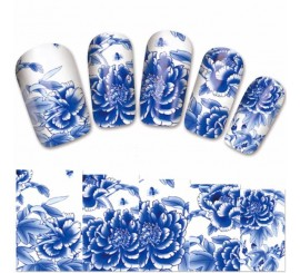 Water Decals Blue Rose
