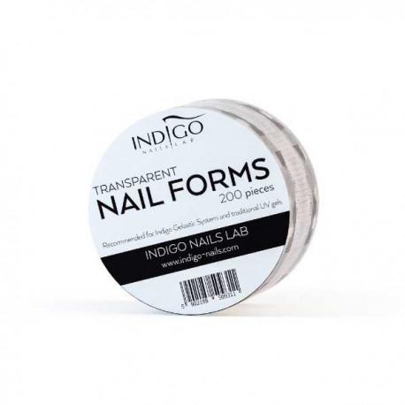 Transparent Nail Forms – 200 pcs