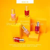 Protein nail polish