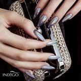 Glammer silver indigo nails
