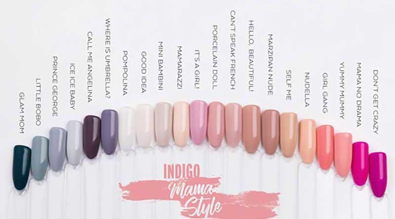 mama style gel polish indigo nails