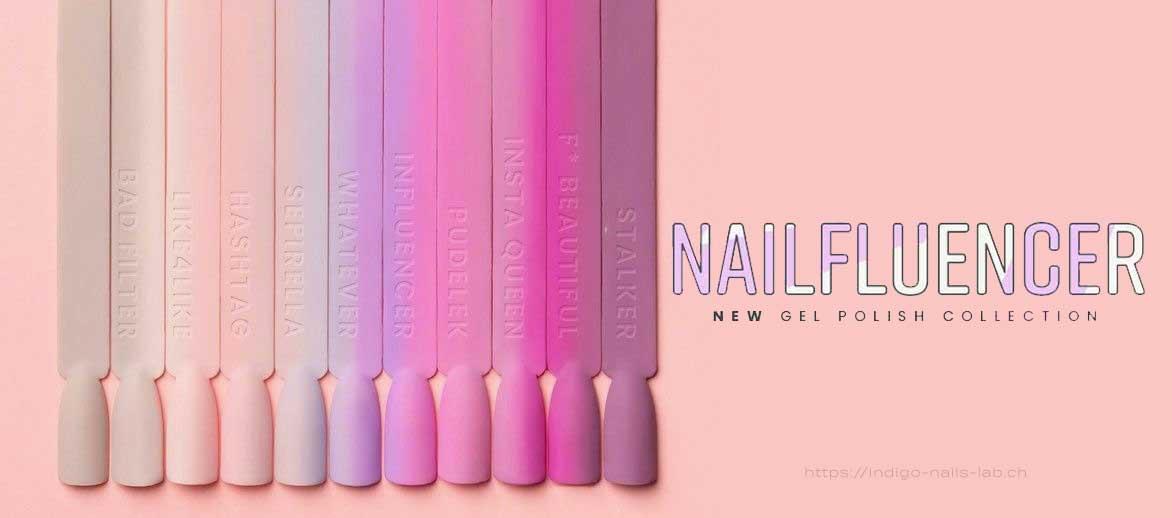 new collection nailflencer indigo nails