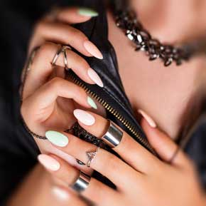 Effet sirène indigo nails lab