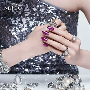 new glitter gel polish indigo