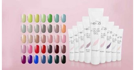 New! Mousse Gel Nail art